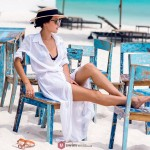 Women's Long Sleeve Chiffon Swimsuit Cover up Fashion Beachwear Uk Tunic Buttons High Split Long Shirt Beach Maxi Dress