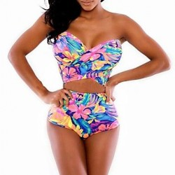 Sexy and Colorful Print Beautiful Swimwear Uk For Women