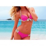 Bohemian Push Up Nylon and Spandex Pure Color Brazilian Sexy Bikini