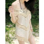 Fashion Sexy Solid Cotton Hollow Crochet Swimwear Uk For Women Swimsuit Uk For Women Bikini Sun Beach Cover-up
