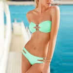 Bandeau Sexy Candy Color Push Up Bikini Swimwear Uk For Women