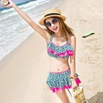 Fashion Sexy Steel Care Split Skirt Style Swimsuit Uk For Women Models