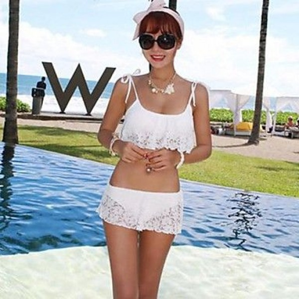 Bikini White Lace Padded Bra Bathing Suit Swimsuit Uk For Women Swimwear Uk For Women