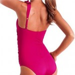 Push-up/Wireless/Padded Bras Ruffle/Solid Halter One-pieces (Cotton Blends/Polyester/Spandex)