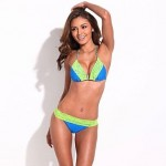 RELLECIGA Triangle Bikini with Braided Ties and Light Removable Padding- Chic & Fantastic BIKINI