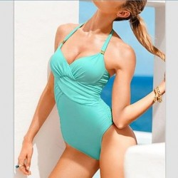 One-Piece Strappy Solid Color Sexy Bikini Swimsuit Uk For Women