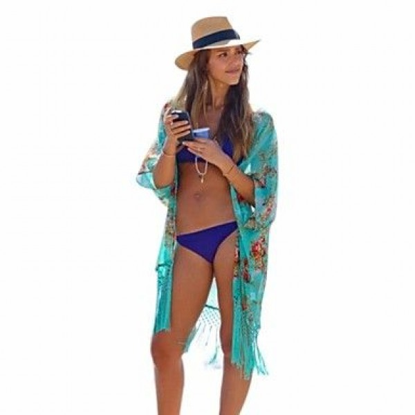 Sexy All-Matching Thin Print Cover-ups