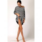 Stylish Black&White Stripe Sun Prevention Cover-up