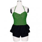 Siamese-Style Boxer Conservative Lean Belly Cover High Waist Retro Fashion Swimsuit Uk For Womens