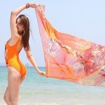 Floral Prints One-piece Swimwear Uk For Women(Without Scarf)