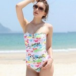 Colorful Prints One-piece Swimming