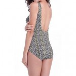 Nylon/Polyester Sexy Leopard Print Wireless Straped One-pieces Swimwear Uk For Women