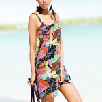 Bohemian Style Multi-Colors Feather Beach Swimwear Uk For Women Cover up Bikini Dress