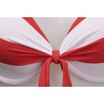 Fashion Sexy Red And White Stripe Push Up Bikini Set Swimwear Uk For Women Swimsuit Uk For Women Bathing Suit