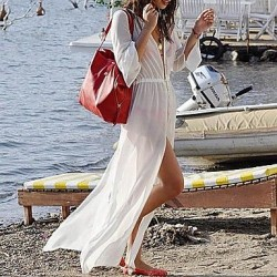 Fashion Sexy Solid Chiffon Bohemia Swimwear Uk For Women Swimsuit Uk For Women Bikini Holiday Beach Frenum Long Dress