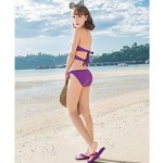 Pure Color Fashion Temperament New Style Nylon and Spandex Three-Pieces Bikini