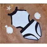 Polyester Color Block Wireless One-Piece Swimwear Uk For Women with Pad
