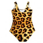 Women Tiger Printed Nylon/Others Wireless/Padless Bra Halter One-pieces