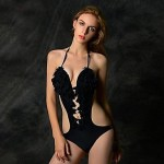 Sexy Flower Backless Halter One-pieces Swimwear Uk For Women