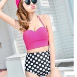 Polyester Polka Dot Sexy Swimwear Uk For Women Tankinis With Pad And Wire
