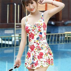 Korean Floral Print Swimwear Uk For Women More Colors