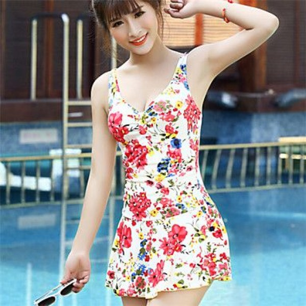 Korean Floral Print Swimwear Uk For Women(More Colors)
