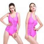 Sexy New Design Pure Color Ahow Thin Wetsuit Fold Increase