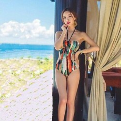 Sexy Halter Triangle One Piece Swimsuit Uk For Women