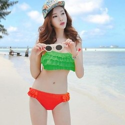 Summer New Bikini Flounced Halter Swimsuit Uk For Women Bathing Suit