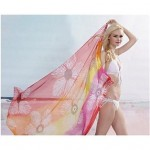 Stylish Colorful Printing Chiffon Beach Towel Cover-up