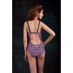 Push-Up One-Piece Floral Printed Slim Thin
