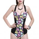 Foshion Sexy New Design Printing Bra Plus One Piece Swimsuit Uk For Women
