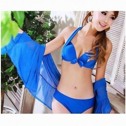 Fashionable Bikini Sexy Gathered Tankinis Swimsuit Uk For Women with Gauze