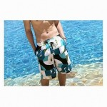 Fashionable Blue Stripe Lovers Beach Pants (Men and Two Sets)