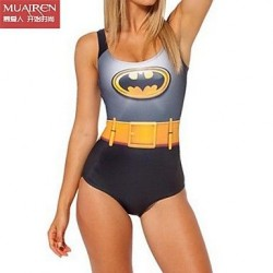 Sky Digital Printing Batman Cape Sexy Female Swimsuit Uk For Women