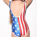 Elonbo The American Flag Style Digital Painting Sexy Swimsuit Uk For Women One-Piece Swimwear Uk For Women