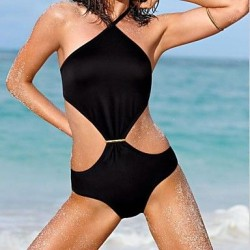 Sexy Black One-piece Triangle Wild Bikini Swimwear Uk For Women