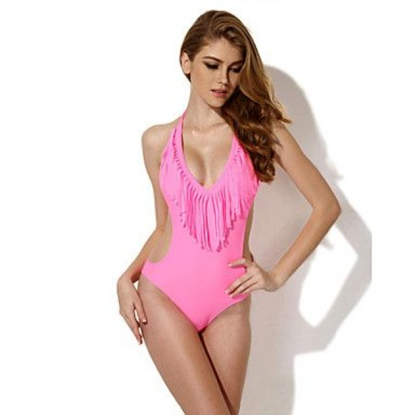 The new foreign trade in Europe and the bikini swimsuit Colloyes pink fringed connected direct manufacturers