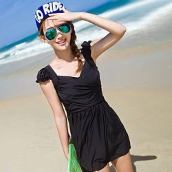 Hollow Design Frilly Skirt Piece Swimsuit Uk For Women