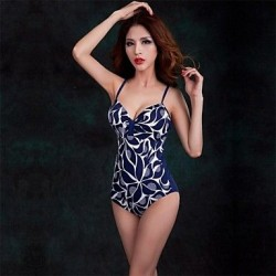 Foclassy® Push-Up Plus Size One-Piece Floral Printed