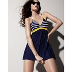 Piece SwimSuit Network BurSt ModelS Navy Wind Female Swimwear Uk For Women
