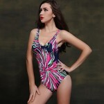 Foclassy 2019 New Arrival Sexy Swimwear Uk For Women Push Up Plus Size One Piece With V-Neck