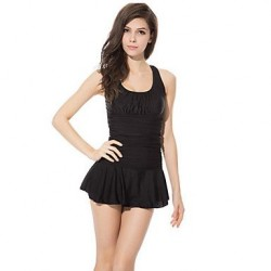 Wireless Solid Halter One-pieces (Polyester)