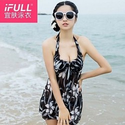 Woman fashion sexy swimsuit flower skirt