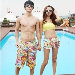Sunflower Beach Couple Quick-drying Pants Jersey