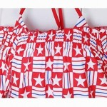Fashionable Sexy Pentagram Stripe Gathered Tankinis Hipster Swimsuit Uk For Women and Shirt ( Four Sets)