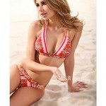 Sexy Halter Beatiful Printing Beach Bikinis Swimwear Uk For Women Set