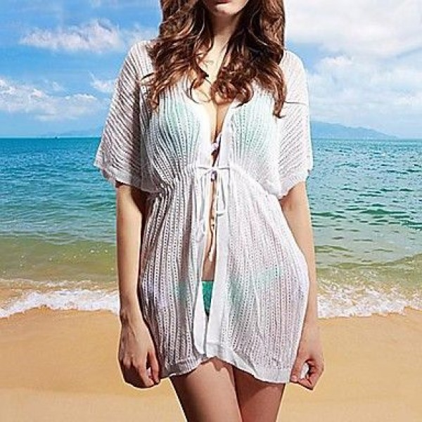 Fashion Sexy Hollow-out Kintwear Sun Prevention Beach Cover-up