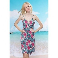 Fashion Sexy Multi Print Backless Deep-v Swimwear Uk For Women Swimsuit Uk For Women Beach dress Bikini Cover-up