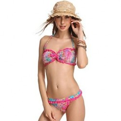 Fashion Sexy Multi Print Lace Beachwear Bikini Set Swimwear Uk For Women Swimsuit Uk For Women Biquini Bathing Suit